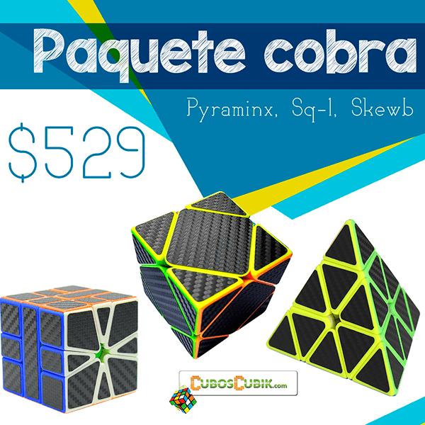 Cubos Rubik Paquete Cobra Pyra, Square 1 y Skewb
