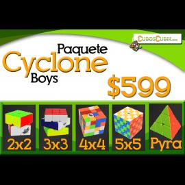 Cubos Rubik Paquete Cyclone Boys 2x2, 3x3, 4x4, 5x5 y Pyra