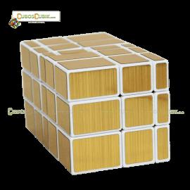 Cubos Rubik Shengshou 3x3x5 Mirror Blanco Dorado