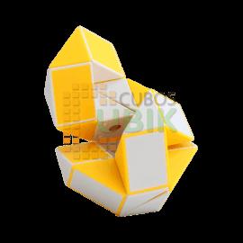 Cubos Rubik Shengshou Snake Twist Blanco Amarillo