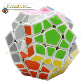 Cubos Rubik Shengshou Megaminx Aurora Base Blanca