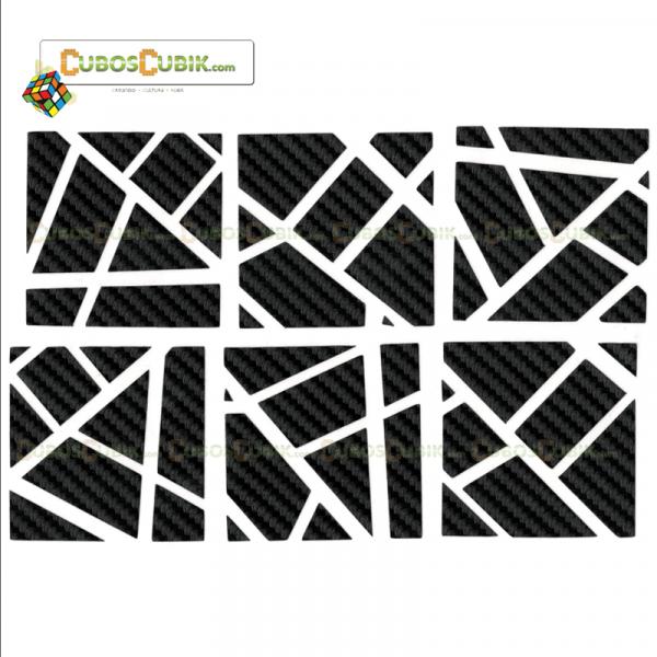 Set de Stickers Fibra de Carbono Ghost Negra