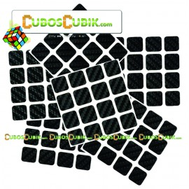 Set de Stickers Fibra de Carbono 4x4 Negro