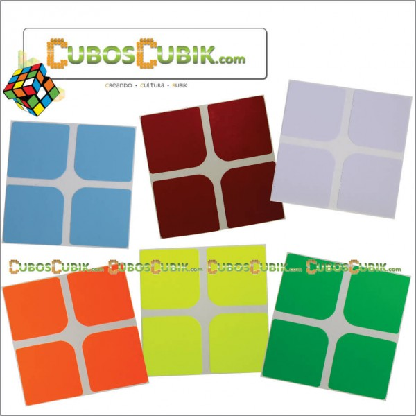 SET de Stickers 2x2 Full Colores Fosfo