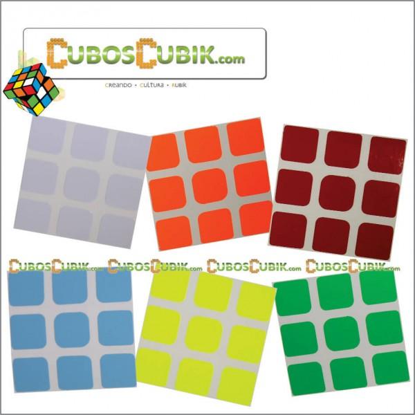 Set de Stickers 3x3 Semi Full Colores Fosfo