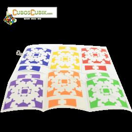 Set Stickers para Gear Cube V1 o V2 Full