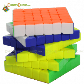 Cubos Rubik YuXin 6x6 Red Unicorn Colored