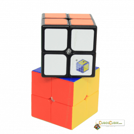 Cubos Rubik YuXin 2x2 Silver Unicorn Colored