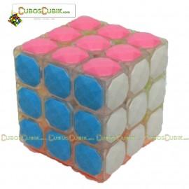 Cubos Rubik YJ Moyu 3x3 Carat Diamond Transpa