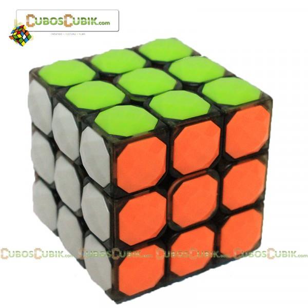 Cubos Rubik YJ Moyu 3x3 Carat Diamond Negro