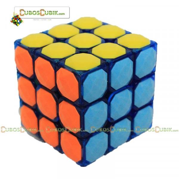 Cubos Rubik YJ Moyu 3x3 Carat Diamond Azul