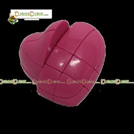 Cubos Rubik Forma Corazon 3x3 Rosa