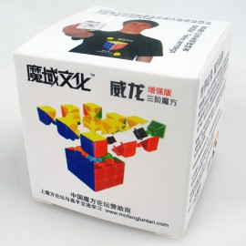 Cubos Rubik YJ Moyu Weilong V2 3x3 54.5mm Mini Base Negra