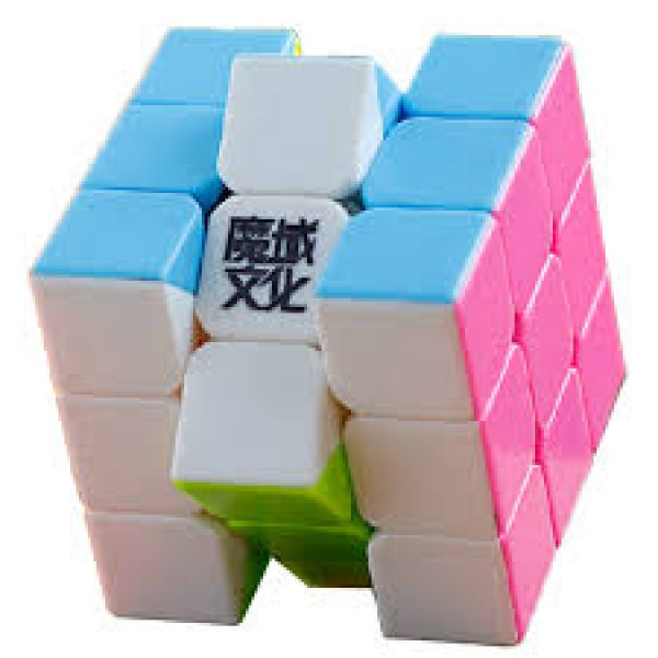 Cubos Rubik Moyu Weilong V2 3x3 Colored Pink