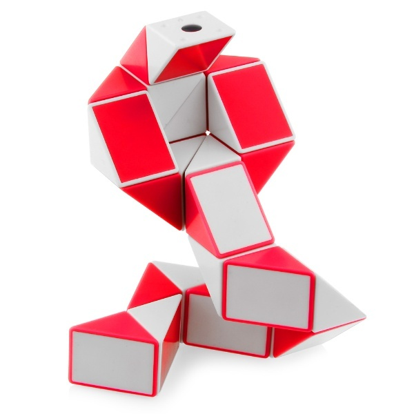 Cubos Rubik Shengshou Snake Twist Blanco Rojo