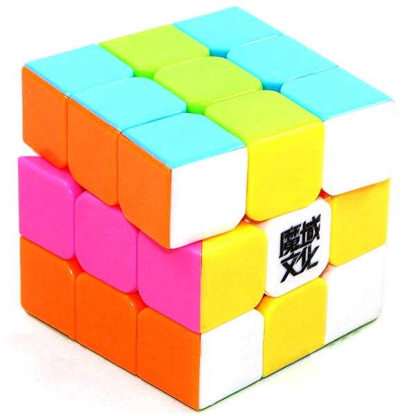Cubos Rubik YJ Moyu Weilong V2 3x3 54.5mm MIni Colored Pink Ed