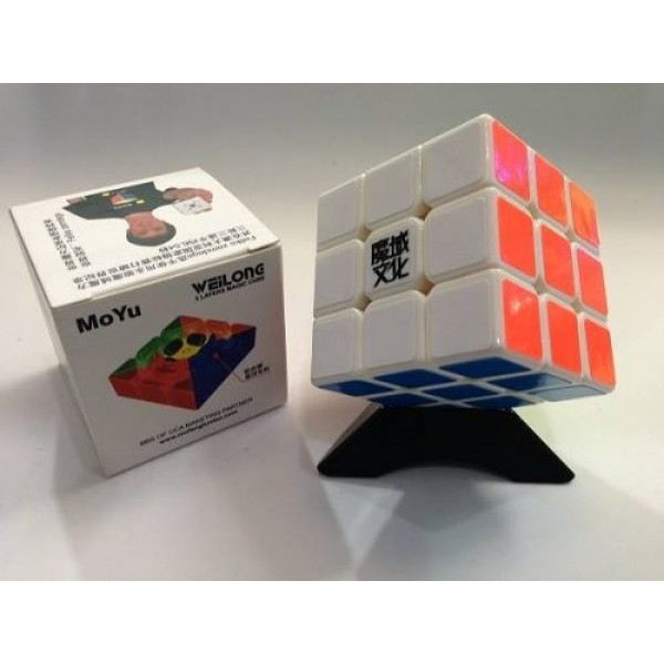 Cubos Rubik Moyu Weilong V2 3x3 Base Blanca