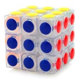 Cubos Rubik YJ Moyu Linggan 3x3 Transparente