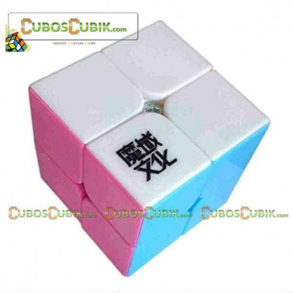 Cubos Rubik Moyu Lingpo 2x2 Pink