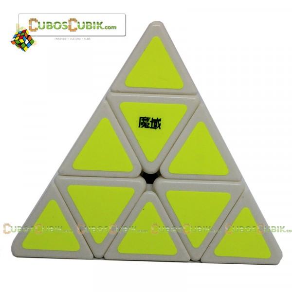Cubos Rubik Moyu Pyraminx Base Blanca