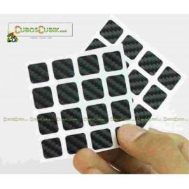 Set de Stickers Fibra de Carbono 4x4 Negro