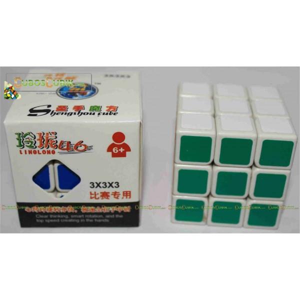 Cubos Rubik Shengshou 3x3 LingLong 47.mm Mini Base Blanca