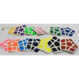 Set de Stickers para Megaminx QiYi o Moyu